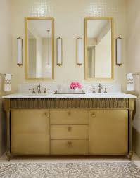 Restoration Hardware Mirrored Bath Accessories by Gray And Gold Bathroom With Restoration Hardware Trumeau Mirrors