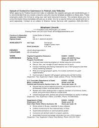 Resume For Federal Jobs Awesome Examples Resumes First Job