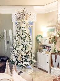 Gorgeous Winter Wonderland Christmas Tree With Cotton Bolls And Cute Forest Creatures Perfect To Leave