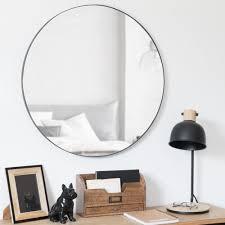 runder spiegel aus metall schwarz d70 maisons du monde