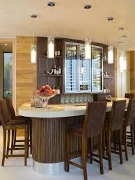 Decorations Modern Wine Bar Decor Idea With Glass Bottle Storage