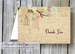 Rustic Baby Shower Thank You Card