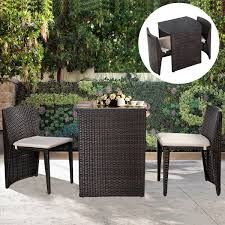 Ebay Rattan Patio Sets by Amazon Com Goplus 3 Pcs Cushioned Outdoor Wicker Patio Set Seat