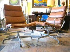Herman Miller Eames Soft Pad Executive Chair by Vintage Eames For Herman Miller Aluminum Group Soft Pad Leather
