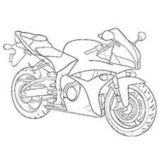 Stylish Motorcycle Free Printable Classy Coloring Sheet