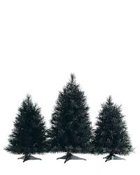 7ft Pre Lit Pencil Christmas Tree by Black Christmas Trees Treetopia