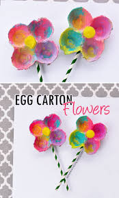10 Cute Art And Craft Ideas For Kids Egg Carton Flowers I Heart Arts N Crafts