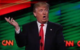 Donald Trump At The GOP Debate Sponsored By CNN March 10 2016 Reuters Carlo Allegri Logo Say It Again