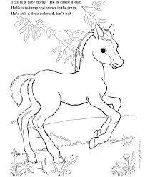 Little Creek And Spirit Horse In The River Coloring Page