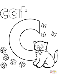 Click The C Is For Cat Coloring Pages