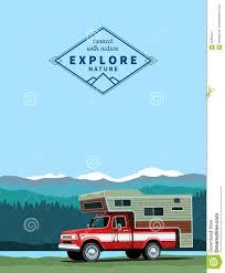 100 Custom Truck Camper Shell Pickup Truck Stock Vector Illustration Of Journey