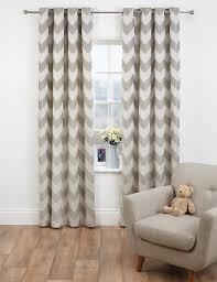 Grey And White Chevron Curtains by Chevron Jacquard Eyelet Curtains M U0026s