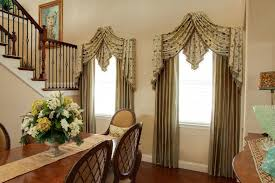 Miami Creative Window Treatments With Kitchen And Bath Remodelers Dining Room Traditional Formal Beige Silk Drapes
