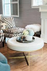 Leather Tufted Chair And Ottoman by Black And White Zebra Slipper Chairs With Round White Leather
