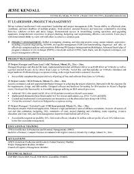 Technical Project Manager Resume Sample Download It Resumes