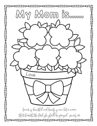 Scripture Based Coloring Pages For Your Mothers Day Bible Lessons Sunday School Planning Is A Breeze With These Free Verse