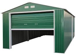 duramax 12x20 metal storage shed garage building green 50961