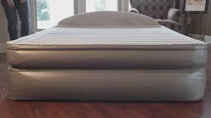 aerobed comfort anywhere 18 air mattress with headboard design