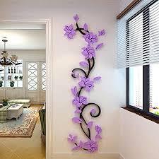 meibax wandtattoos abnehmbare diy 3d spiegel vinyl schlafzimmer wandaufkleber für kinder baby schlafzimmer kinderzimmer lila
