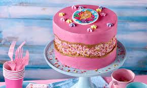 rosa meerjungfrau torte