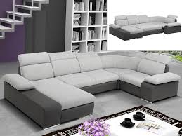 canape panoramique canapé d angle convertible en tissu et simili cyrano