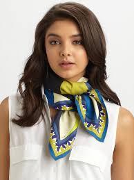 women u0027s blue fantasia silk twill scarf emilio pucci accessories