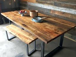 Industrial Modern Dining Table U Shaped Metal Legs Wood Room Tables