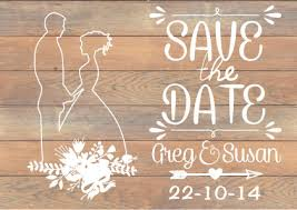 Rustic Theme For Your Save The Date Card