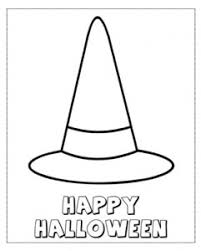Halloween Witch Hat Coloring Pages Festival Collections