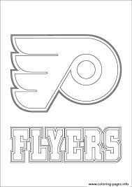 Philadelphia Flyers Logo Nhl Hockey Sport Coloring Pages