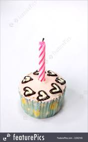 Fancy Birthday Cupcake Royalty Free Stock Picture