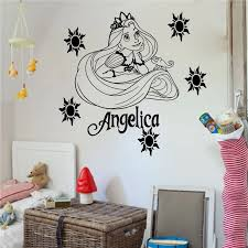 prinzessin rapunzel rapunzel vinyl wandkunst aufkleber mädchen schlafzimmer aufkleber wandtattoo wandbild für kinderzimmer wohnkultur