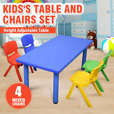 Large Kids Toddler Children Activity Table And 4 Chair Chairs Blue ... Greek Style Blue Table And Chairs Kos Dodecanese Islands Shabby Chic Kitchen Table Chairs Blue Ding Http Outdoor Restaurant With And Yellow Crete Stock Photos 24x48 Activity Set Yuycx00132recttblueegg Shop The Pagosa Springs Patio Collection On Lowescom Tables Amusing Ding Set 7 Piece 4 Kids Playset Intraspace Little Tikes Bright N Bold Free Shipping Balcony High Cushions Fniture Rst Brands Sol 3piece Bistro Setopbs3solbl The
