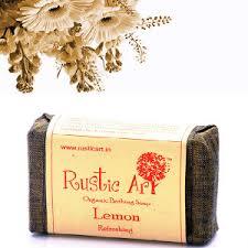 Organic Lemon Soap Rustic Art Chemical Free Handmade Summer Season