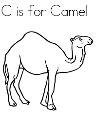C is for Camel Coloring Page Download & Print line Coloring