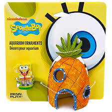 Spongebob Aquarium Decor Set by Penn Plax Spongebob U0026 Pineapple House Aquarium Ornament Petco