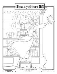 Beauty The Beast 3D Coloring Pages