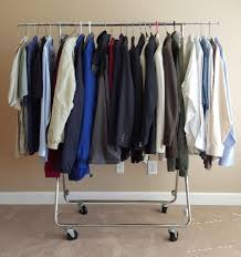 Stunning Rolling Garment Rack Clothes Industrial Clothing