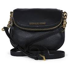 michael kors bedford flap black leather crossbody bag bedford