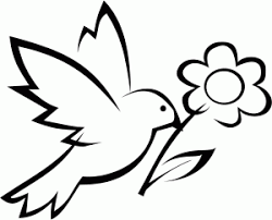 New Printable Bird With Flower Coloring Pages For Preschoolers 2014