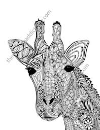 Giraffe Coloring Page Animal By TheColoringAddict