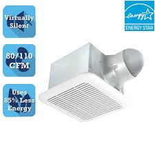 Do Duct Free Bathroom Fans Work by Qtx Series Very Quiet 110 Cfm Ceiling Exhaust Bath Fan With Light