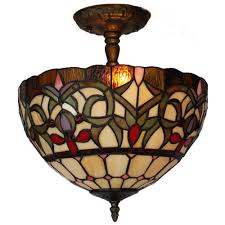 Home Depot Tiffany Floor Lamps by Amora Lighting 2 Light Tiffany Style Ceiling Pendant Am1081hl12