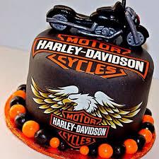 Image Of Harley Davidson Cake Decor