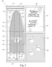 Ironing Board Cabinet With Storage by Patent Us8671598 Wall Mounted Ironing Board Cabinet Google Patents