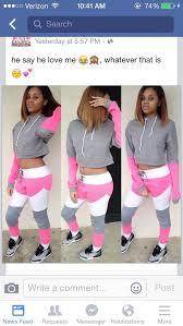 Pants Jacket Pink Grey White Cute Ootd Sweatpants Hoodie Crop Tops Hat Black Girls Killin It African American Dope Top Cropped