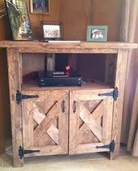 Rustic Corner TV Console Entertainment Center By WalkersRustics