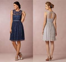 celia silver grey lace bridesmaid dresses jewel neckline