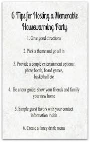 6 Tips For Hosting A Memorable Housewarming Party