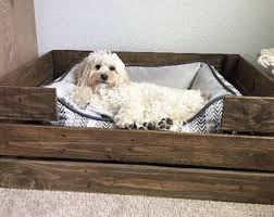 Pottery Barn Dog Bed by Wood Dog Beds Etsy